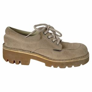Vintage Aldo Suede Chunky Shoes 90s 7.5